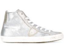 - High-Top-Sneakers im Metallic-Look - women
