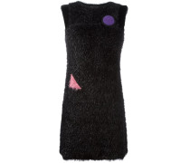 Kleid mit Kunstpelzbesatz