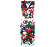 Tailliertes Kleid mit Blumen-Print