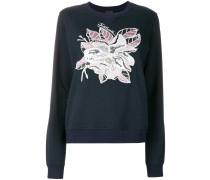 Magnolia appliqué sweatshirt