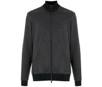 Sweatshirtjacke mit Stehkragen