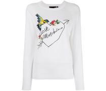 Pullover mit Vogelstickerei - women - Baumwolle