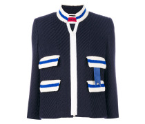 zipped ribbed jacket