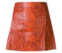 python-print leather mini skirt