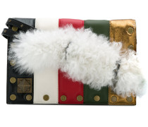 Schultertasche in Colour-Block-Optik