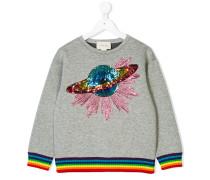 Sweatshirt mit Planet-Stickerei