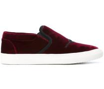 Samt-Sneakers mit Paillettendetail