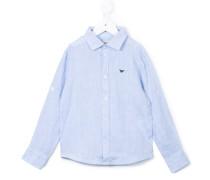 - Chambray-Hemd mit Logo - kids - Leinen/Flachs