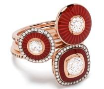 18kt Rotgoldringe mit Diamanten