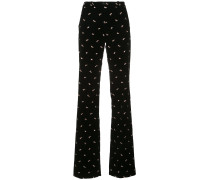embellished flared trousers