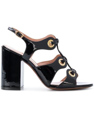 open toe eyelet sandals