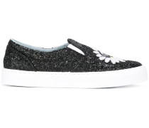 Slip-On-Sneakers mit Glitzer - women