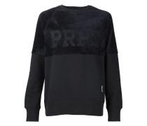Sweatshirt mit Veloureinsatz
