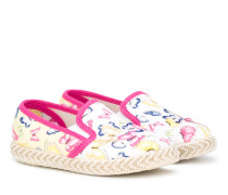 Slipper mit Schmetterlings-Print
