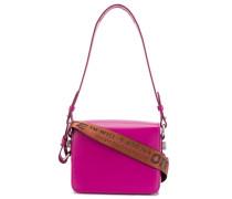 pink warning tape shoulder bag