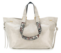 contrast strap shopper bag