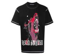 T-Shirt mit Hunde-Print