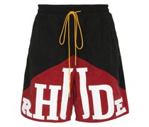 YACHTING TRK SHRTS BLK RED