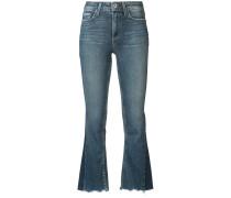 Cropped-Jeans mit leicht ausgestelltem Bein