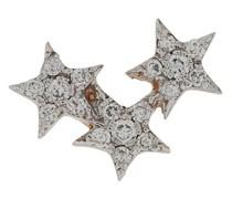 14kt 'Triple Star' Rotgoldohrstecker