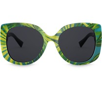 Oversized-Sonnenbrille mit Print