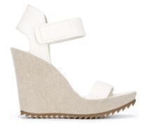 'Vivien' Wedge-Sandalen - women - Leder/rubber