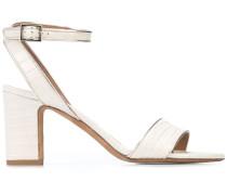 'Leticia' Sandalen mit Kroko-Effekt, 60mm