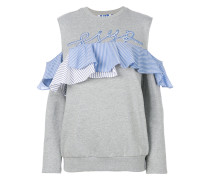 ruffle trim sweatshirt