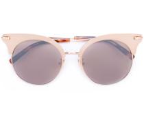 Cat-Eye-Sonnenbrille mit Halbrahmen