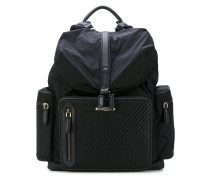 woven detail backpack