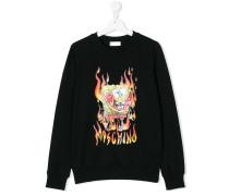 burning Sponge Bob sweatshirt