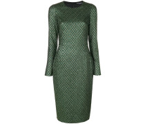 Jacquard-Kleid mit Metallic-Effekt
