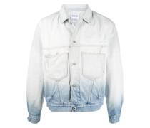 Jeansjacke mit Ombré-Effekt