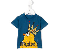 crowned chicken print T-shirt