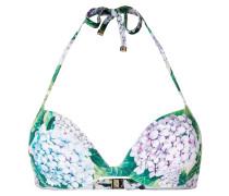 Neckholder-Bikinioberteil mit floralem Print