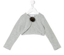 furry button cardigan