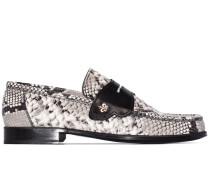 'Iconic' Loafer in Schlangenleder-Optik