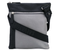 logo messenger bag - men - Baumwolle/Leder