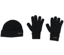 Set aus Beanie und Handschuhen