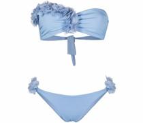 Bandeau-Bikini mit Rüschen