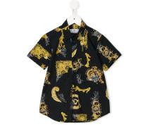 Hemd mit barockem Print - kids - Baumwolle - 8