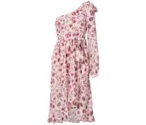one shoulder rose dress