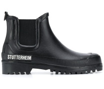 Chelsea-Boots mit Logo-Print