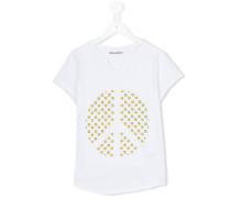 T-Shirt mit Peace-Print - kids - Baumwolle - 16