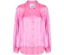 long-sleeved satin shirt