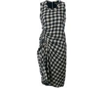 Kariertes Kleid mit Raffung