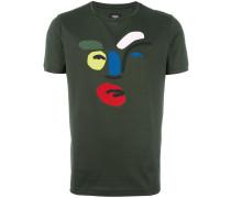 T-Shirt mit abstraktem Gesicht