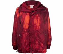 graphic-print hooded jacket