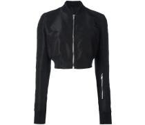 Glitter cropped bomber jacket - women