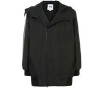 quilted zip-up hoodie